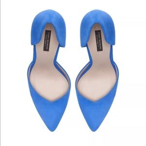 Zara Blue D'orsay High Heel Pumps in Blue Size 40